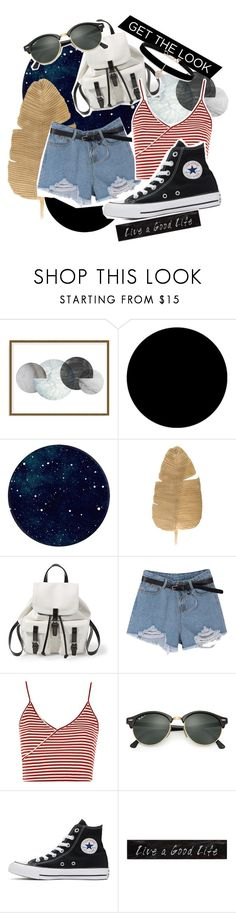 """""""xx"""" by pauloskompanieros on Polyvore featuring Art Addiction, Wall Pops!, Steve Madden, Topshop, Ray-Ban, Converse, 3R Studios and Betsey Johnson"""