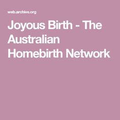 Home birth pictures australian.