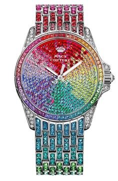 Juicy Couture 'Stella' Crystal Embellished Watch, 40mm available at #Nordstrom. OMG I SOOOOOO want this!