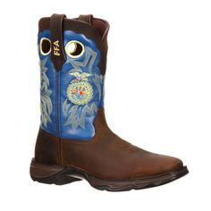 Lady Rebel by Durango Womens Blue Leather FFA Western Cowboy Boots