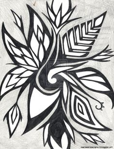 Abstract art drawing ideas abstract sketch ideas gallery abstract art black and white drawings Abstract Flower Art, Butterfly Painting, Flower Art Images, Abstract Sketches, Tattoo People, Black And White Drawing, Floral Illustrations, Pictures To Draw, Tribal Tattoos