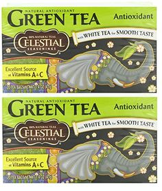 Celestial Seasonings Herbal Tea, Green Tea Antioxidant,(2 Pack) * For more information, visit image link.