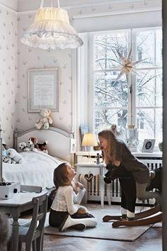 all white little girl's room