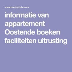 informatie van appartement Oostende boeken faciliteiten uitrusting