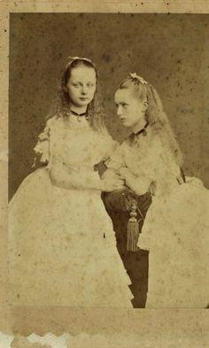 Augusta Victoria and Caroline Mathilde of Schleswig-Holstein