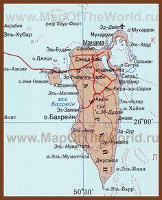 Карта Бахрейна на русском языке