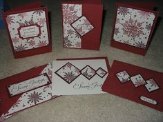 One sheet wonder cards made with Snowflake set from Stampin up