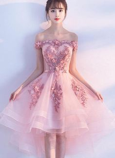 Cute Prom Dresses, Pink Prom Dresses, Short Prom Dresses, Lace Prom Dresses The most be Pink Party Dresses, Pink Dress, Dress Lace, Party Gowns, Dress Party, Prom Dress Black, Black Prom, Cute Homecoming Dresses, Graduation Dresses