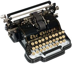 Chicago - decorated   Chicago Writing Machine Co., Chicago  1899 - serial no.27310
