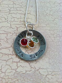 Stamped metal jewelry for mom!