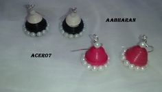 Jhumkis with pearls on it..