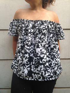 Tuto - Une blouse à épaules nues | Lagouagouache