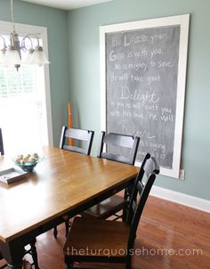Make this Easy DIY giant magnetic chalkboard with just a few tools and a little bit of time. Perfect for writing inspirational messages!