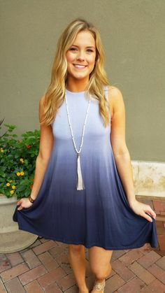 Grey Ombre Dress   ella bleu