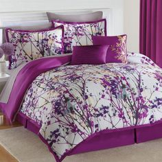 Amazon.com - Brylanehome Funky Floral Oversized Multi-Pc. Comforter Set -