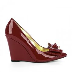 Katy pointed toe wedge - Chili Red