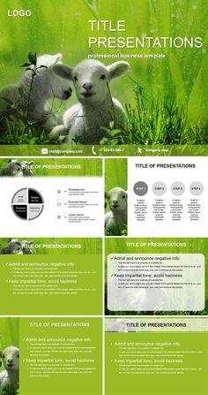 Lamb on Pasture PowerPoint Templates