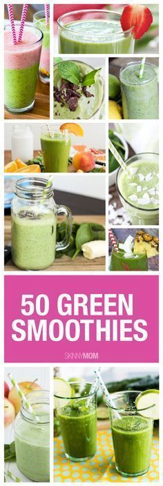 Try one of these 50 delicious green smoothies! #diy #greensmoothies