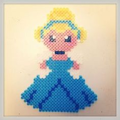 Disney Cinderella hama perler beads by pagey163