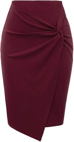 Kate Kasin Wear to Work Pencil Skirts for Women Elastic High Waist Wrap Front Classy Work Outfits, Office Outfits Women, Classy Dress, Work Casual, Latest African Fashion Dresses, African Print Fashion, Pencil Skirt Outfits, Pencil Skirts, Mode Inspiration