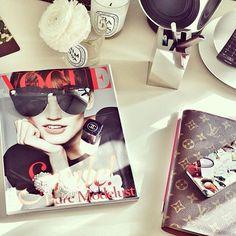 add a vogue magazine to the elegance