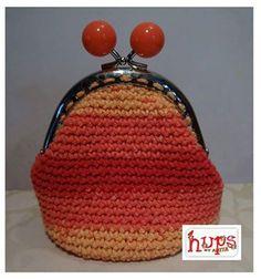 Oranje - rood beursje van Hups.