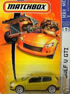 Mattel Matchbox 2007 MBX Metal 1:64 Scale Die Cast Car # 5 - Gold Coupe 2 Door VW Golf V GTI by MBX. $8.99. Age : 3+. Realistic Details. Diecast Metal & Plastic Parts. 1/64 Scale. Mattel Matchbox 2007 MBX Metal 1:64 Scale Die Cast Car # 5 - Gold Coupe 2 Door VW Golf V GTI