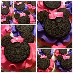 Pink & Purple Minnie Mouse Cupcakes