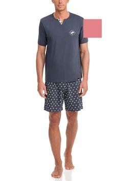 Vamp Ανδρική Νεανική Πυτζάμα Pink Ice – Tartora.gr Bermuda Shorts, Trunks, Swimming, Swimwear, Pink, Cotton, Shopping, Style, Fashion