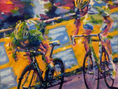 Cav in Green,tour de France 2011 by Rob Ijbema | Artfinder