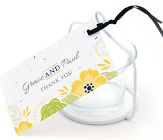 Bloom Flowers Plantable Favor Tag. Say thank you with this cheery favor tag from #theweddingoutlet.com. perfect spring favor: http://www.maweddingguide.com/wedding-trends/wedding/MA-spring-weddings.htm