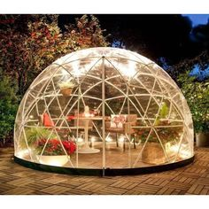 NEW Bubble Tent Garden Igloo Plant Geodesic Dome Walk In Greenhouse Gazebo Party camping, glamping What Is Gardening, Organic Gardening, Walk In Greenhouse, Greenhouse Ideas, Greenhouse Panels, Gazebo Ideas, Bubble Tent, Hot Tub Cover, Covered Garden
