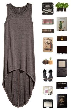 """""""Untitled #575"""" by lrnbndc ❤ liked on Polyvore featuring H&M, Urban Decay, 33 Books Co., NARS Cosmetics, Hermès, Boskke, Passport and beoriginal"""