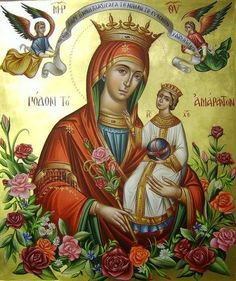 Jesus E Maria, Queen Of Heaven, Orthodox Christianity, Hail Mary, Mother Mary, Ikon, Art Forms, Catholic, Religion