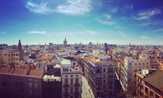 Blue Sky over #valencia  Tolle Aussicht auf die Altstadt! #panorama #view #altstadt