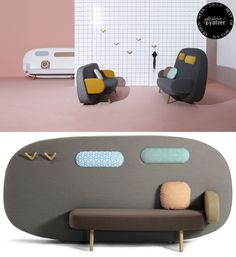 Float sofa-screen by Karim Rashid for Sancal. > BEST OF MILAN DESIGN WEEK 2013 > http://www.yatzer.com/best-of-milan-design-week-2013