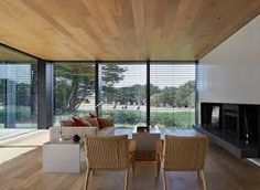 The Links Courtyard house designed by Inarc Architects is a holiday home that overlooks a links golf course (Australia, The Links Courtyard House, Inarc Architects, Single Storey) Architecture Panel, Interior Architecture, Architecture Portfolio, Interior Design, Royal Oak Floors, Timber Slats, Storey Homes, Courtyard House, Outdoor Furniture Sets