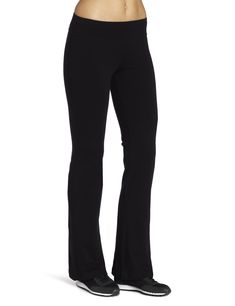 Spalding Women's Bootleg Pant, Black, X-Large Flared yoga pant featuring wide waistband and small logo at hip Compression through seat and thighs Athletic Pants, Athletic Women, Athletic Wear, Comfy Pants, Leggings Are Not Pants, Yoga Pants With Pockets, Pants For Women, Clothes For Women, Morning Yoga