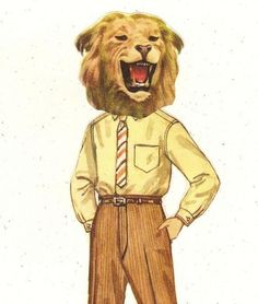 Little Lion Man Collage Print by catwalk on Etsy, $10.00