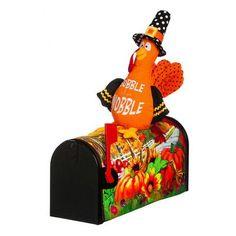 "Evergreen Enterprises, Inc 18"" Pumpkin Field Turkey Magnetic Mailbox Cover"