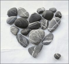 Heart of stones to put in the landscaping area