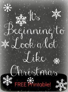 "Download your Free ""It's Beginning to Look a Lot Like Christmas"" Printable! I offer theseFree Printables to my readers, and I would LOVE ..."