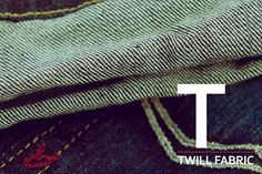 The Replay denim alphabet. T as in Twill fabric.