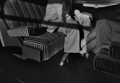 Harry Gruyaert, In the first class carriage, between the towns of Ostende and Brussels, Belgium, 1975