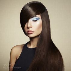 Photo of beautiful woman with magnificent hair by heckmannoleg
