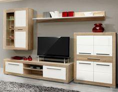 High Quality Moderne Wohnwand Andrea I In Trendigen Farben Bestehend Aus: 1x Highboard  Mit 4 Einlegeböden Und Amazing Design