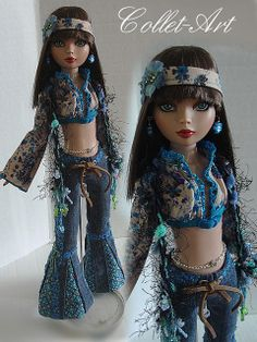 """2013 Tonner Wilde Imagination Ellowyne Wilde Prudence Moody Amber Lizette Imperium Park OOAK Fashion """"A Groovy Kind of Love"""" Collet-Art 