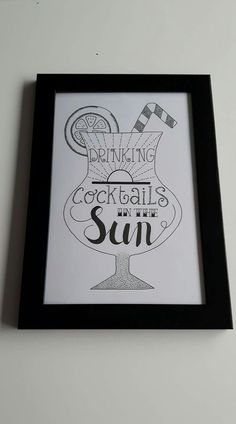 The sun cocktail Doodle Quotes, Art Quotes, Bujo Doodles, How To Write Calligraphy, Drawing Quotes, Creative Lettering, Doodle Drawings, Sketches, Lightbox