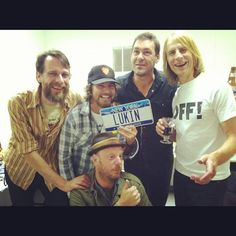 Mudhoney and Ed Vedder, yesterday in Missoula. Someone is missing though...