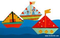 origami boats